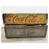 Vintage Coca Cola & Pepsi wood crates