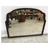 Antique wood framed mirror