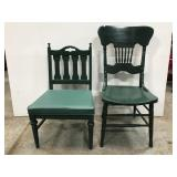 His & Hers green chair pair