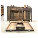 Vintage Hamilton oak wood drafting table project