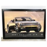Framed 2004 Cadillac XLR poster