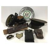 Military items w/ leather belts