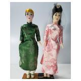 Pair of Asian inspired dolls