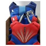 4 youth life vests