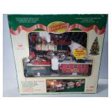 Vintage Santaland musical animated train set