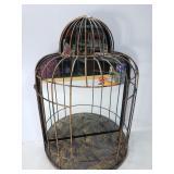 Mirrored metal bird cage display