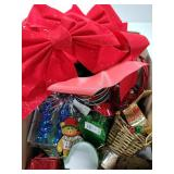 Christmas holiday box lot with bows