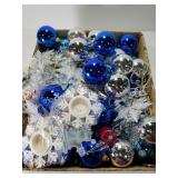 Christmas lot with blue and silver theme