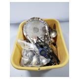 Silverplate & digital watches lot