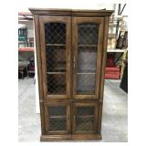 Sectional china hutch cabinet