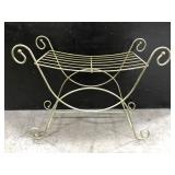 Vintage sturdy metal wire stool or towel rack