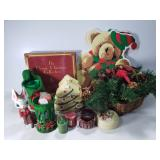 Christmas decor items with placemats
