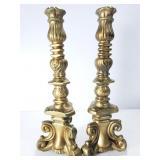Custom made metal candlesticks