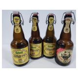 4 swing top beer bottles