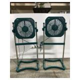 Two Air Innovations floor stand fans