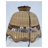 Vintage rattan hanging lamp light