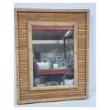 Bamboo framed mirror