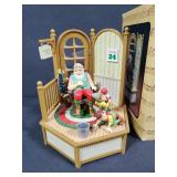 Santas busy office music box