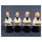 Old vintage choir figurines
