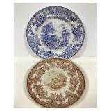 Transfer Ware  plate pair