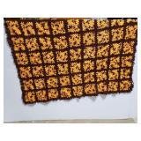 Vintage crocheted throw blanket afgan