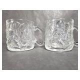 2 Batman Forever glass Mcdonalds mugs