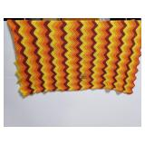 Chevron design knit throw blanket afgan