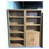 Bookshelf & cabinet pair