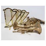 12 instrument ornaments