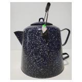 Large graniteware coffee or water pot