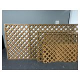Brown plastic lattice sections