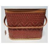 Vintage square picnic basket