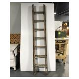 Old wooden extension ladder - 15 foot