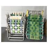 Collection of 9 vintage lawn chairs