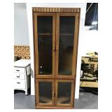 Tall wood & glass front cabinet