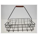 Vintage metal milk carrier rack