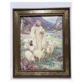 Warner Sallman Jesus Shepard framed print