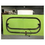Electric train track - in two pieces