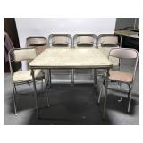 Samsonite card table & chair set - 2 bonus chairs