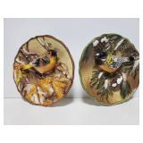 Ganz ceramic bird plaques
