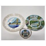 Michigan souvenir plates