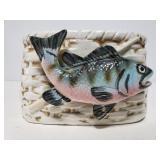 Vintage Napco fish planter