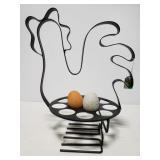 Metal chicken egg holder