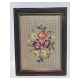 Small framed needle point from Hudsons
