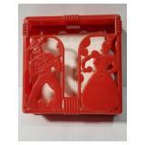 Vintage red napkin holder