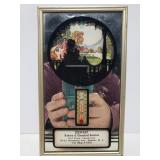 Small silhouette advertising thermometer