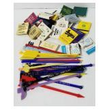 Vintage Michigan matchbooks & swizzle sticks