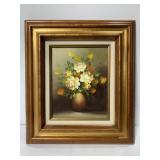 Floral painting by Ron Waddams