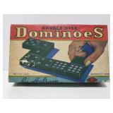 Vintage wooden dominoes set