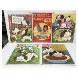 Vintage 1972 Little Golden Books puppy puzzles